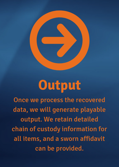 Output: once we process the data we will generate playable output.